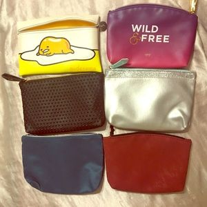 Set of 6 ipsy glam bags